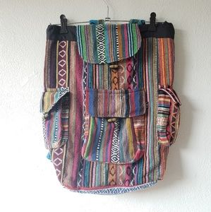 Handbags - Aztec Mexican style backpack from Mexico